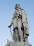 King Alfred Statue in Wantage Market Place